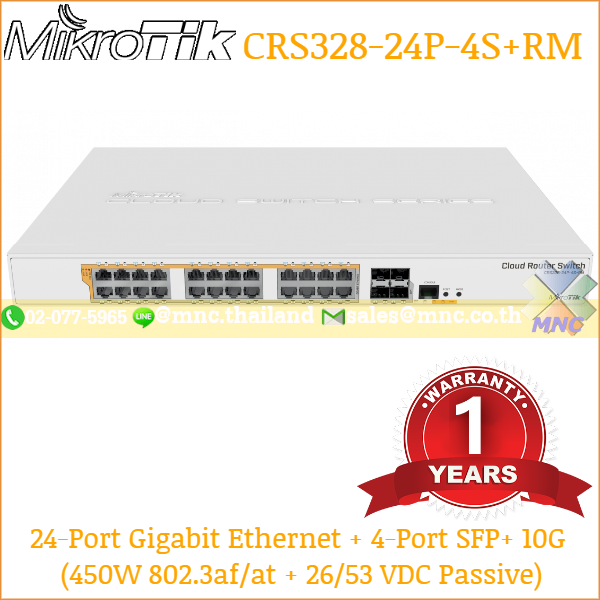 Mikrotik-CRS328-24P-4SRM PoE Switch